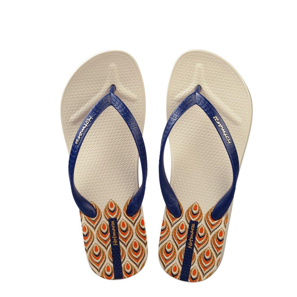Hotmarzz Tongs Plateforme Sandales DEte Femme Talon Haut Compens/é Plage Flip Flops