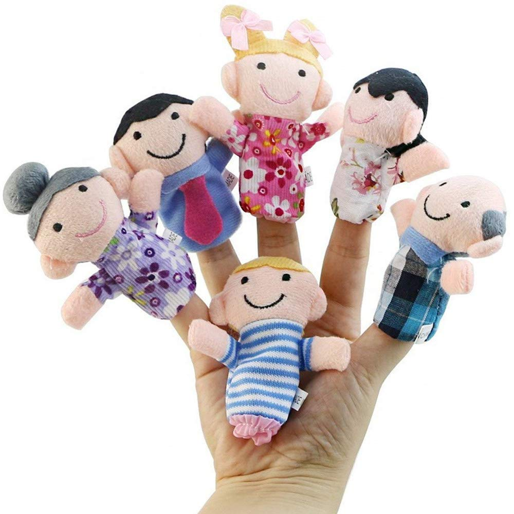 zswell Finger Puppets Set Cute Animal Style Soft Plush Animal Baby Story Time Finger Puppets for Children, Shows, Playtime, Schools (6PCS)