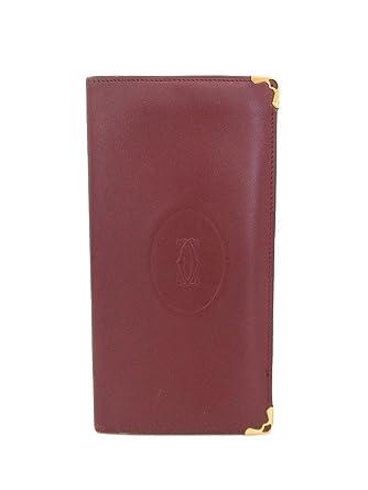78bb9f2b69c9 Amazon.co.jp: Cartier(カルティエ) マストライン 札入れ ボルドー 財布 ...