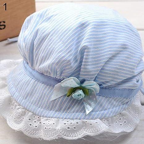 d14e0d15b15 wintefei Toddler Infant Baby Girls Outdoor Flower Bucket Hat Summer Sun  Beach Beanie Cap - Blue  Amazon.in  Baby