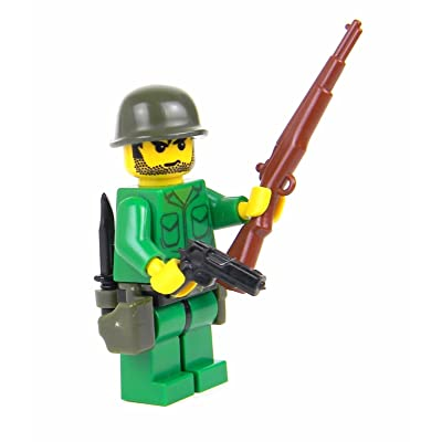 Battle Brick US Army WW2 Rifleman Soldier (SKU29) Custom Minifigure: Toys & Games