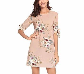 ad1ac72712a5 DYEWD Vestidos de Mujer,Vestidos de Cuello Redondo,Pantalones Cortos ...