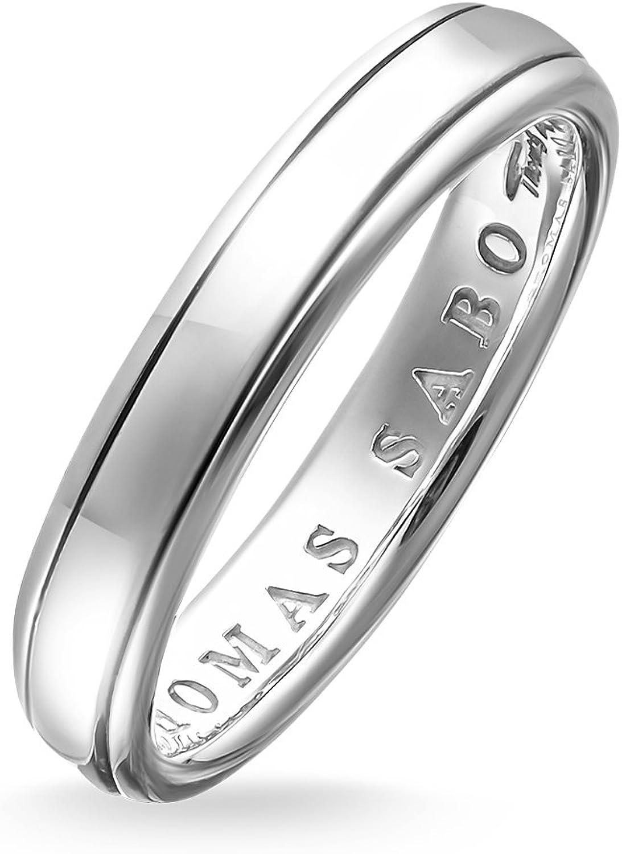 Thomas Sabo Unisex banda anillo–Anillo de plata de ley 925, ennegrecido tr1998–001–12