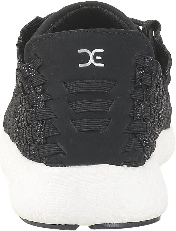 Dude Shoes Womens E-Last Joyce Black Glitter Lace-Up
