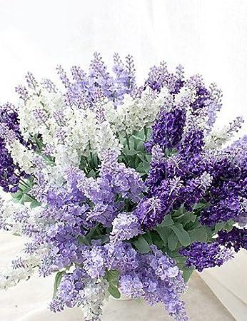 Amazon De Funan Hochzeitsblumen Freigeformt Lavendel Strausse