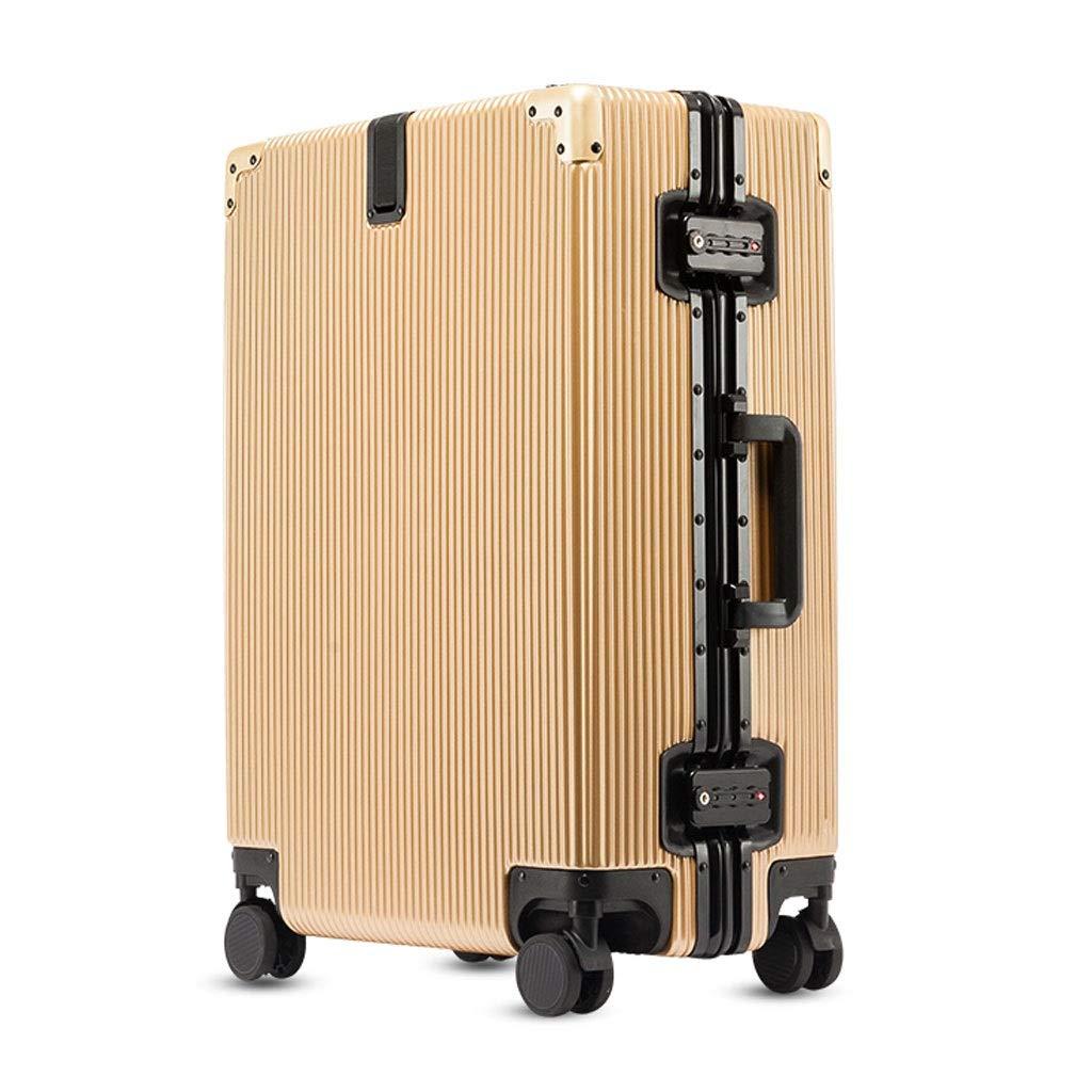FRF トロリーケース- ユニバーサルホイールトロリーケースパスワードボックススーツケース20/24/28インチ男性と女性 (色 : シャンパン, サイズ さいず : 20in) 20in シャンパン B07QMPB3Z2