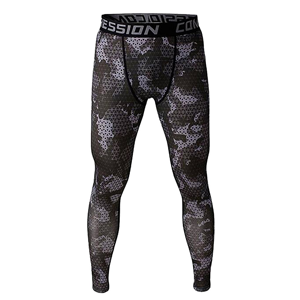cff0de5873dc5 Phenovo Men Compression Trousers Run Sports Leggings Baselayer Training Gym  Wear 2pc (Grey+White): Amazon.in: Clothing & Accessories