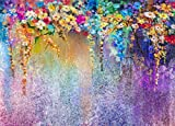 TMOTN 7x5ft Colorful Fantasy Photography Backdrop Colorful Flowers Wedding Photo Background Studio Props D1229