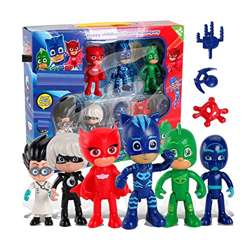 New 6 Pcs/set PJ Masks Boy Figures Popular Cartoon Toys for Kids - Nuevas 6 PC / set PJ Masks Muchacho Figuras populares Juguetes de dibujos animados para ...