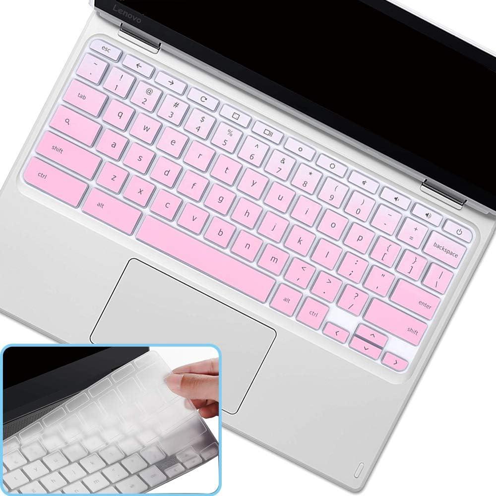 2Pcs i-Tensodo Keyboard Cover for 2020 2019 2018 Lenovo Chromebook C330 11.6