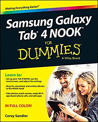 Samsung Galaxy Tab 4 NOOK For Dummies (For Dummies Series ...