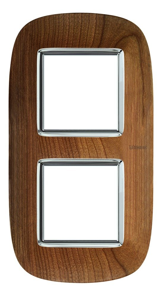 BTICINO Axolute hb4802//2lca/ /ax-placa 2/x 2/m bois merisier
