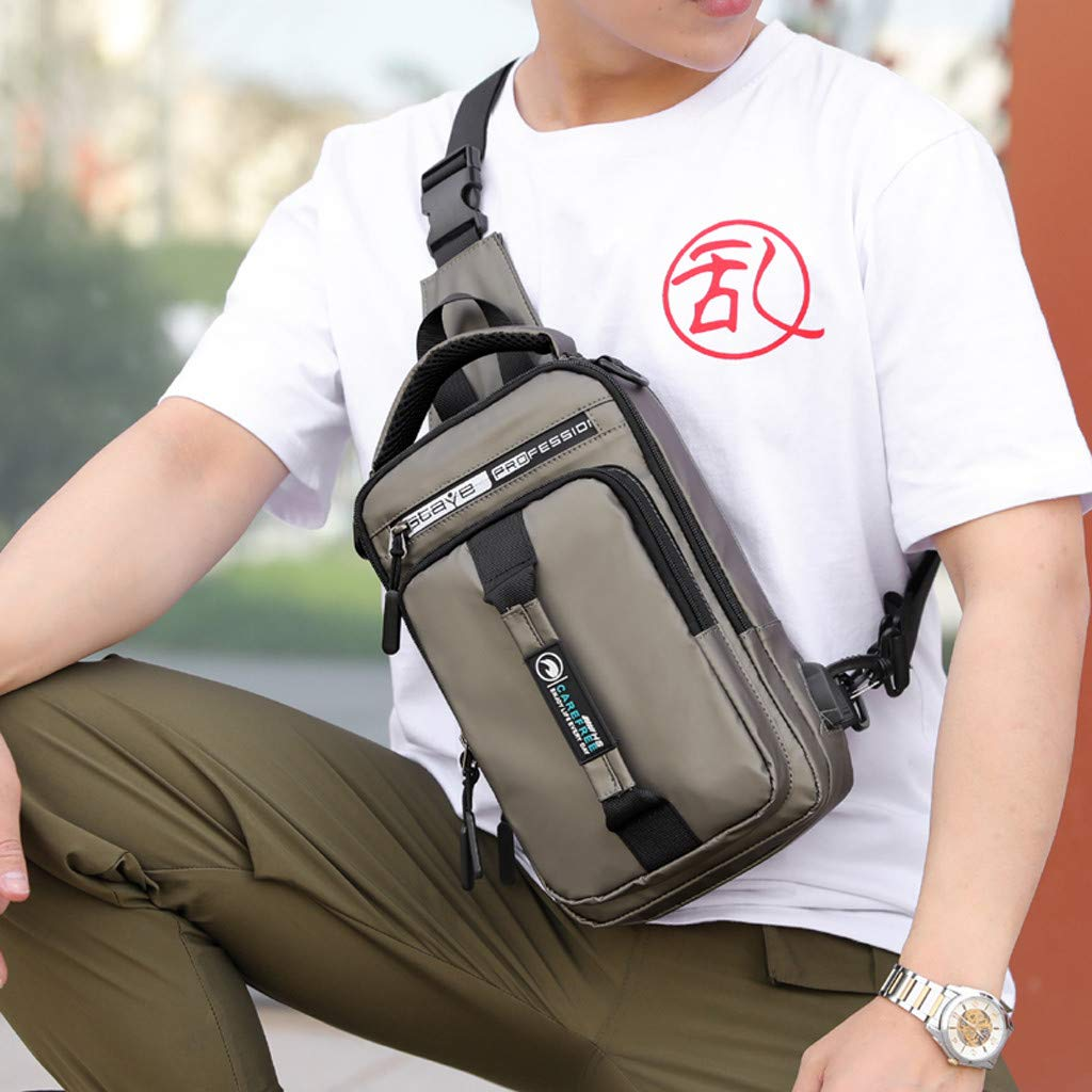 Backpack For Women Men Fashion Outdoor Oxd USB Versatile Shoulder Bag Messenger Bag Chest Bag