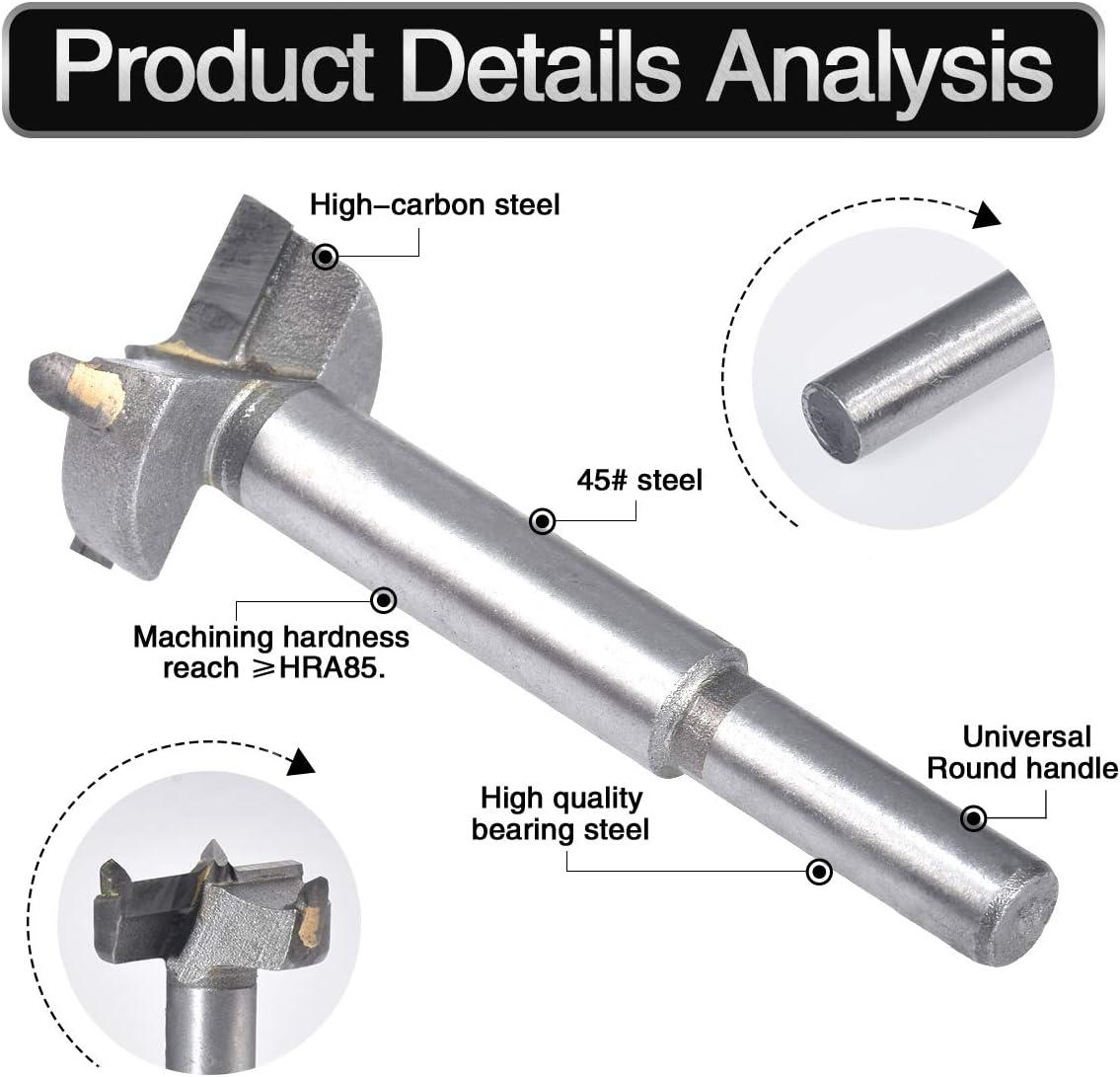 SET HIGH QUALITY WOOD//HINGE DRILLS SIZES 10-60mm FORSTNER BITS