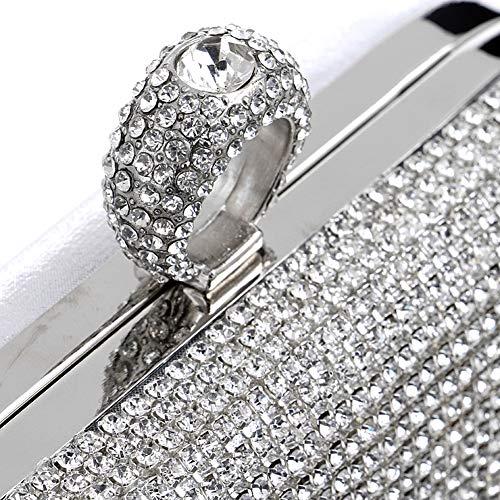 6x4x2inch d'autres Bal B soirée pour Jours de Diamant de H Carré 16x10x5cm Womens Et fériés Embrayage Tassel Crystal Sacs STgT6P