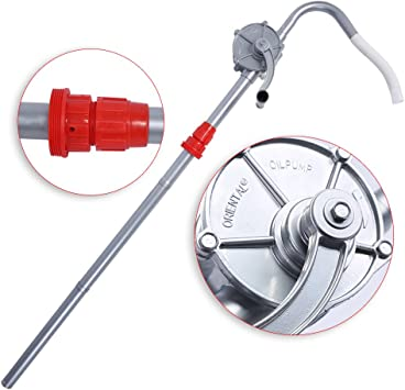TRUPOW Plastic Polypropylene Hand Rotary Transfer Drum Barrel Pump