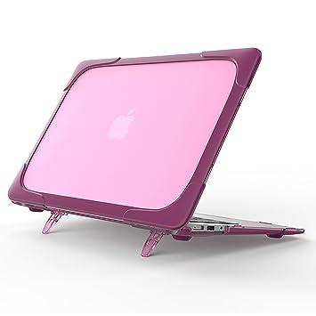 loiee Macbook Air de TPU y PC carcasa rígida con soporte ...