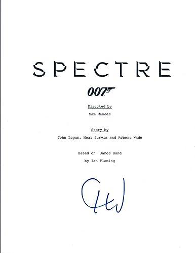 christoph waltz signed autographed spectre movie script james bond