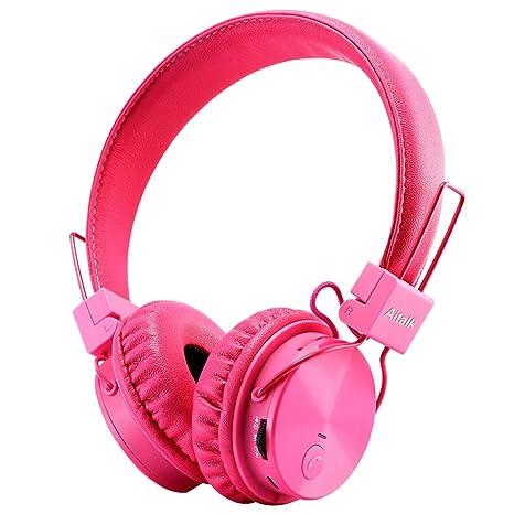 Auriculares Bluetooth para niños Inalámbricos para Niños Pequeños, Micrófono Incorporado, Rosa, Pequeño,