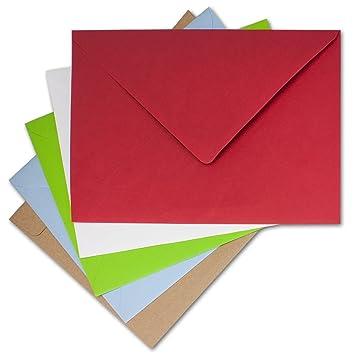 Xxl Briefumschlag Set In Din C4 25 Stück In Verschiedenen Farben