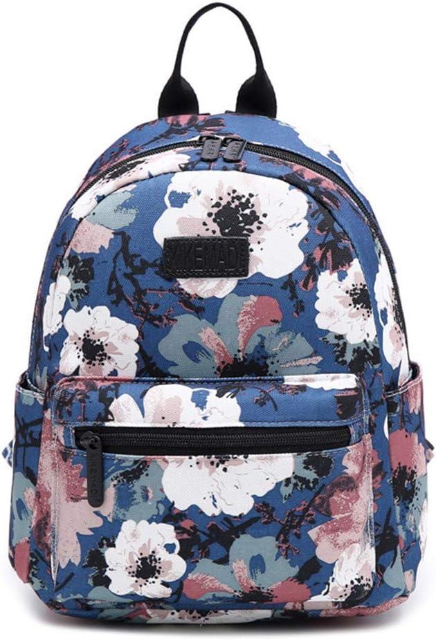 Mini Printing Backpack Canvas Women Backpack School Bag For Teenage Girls Backpacks Casual Daily Durable Bags Flower Smaller