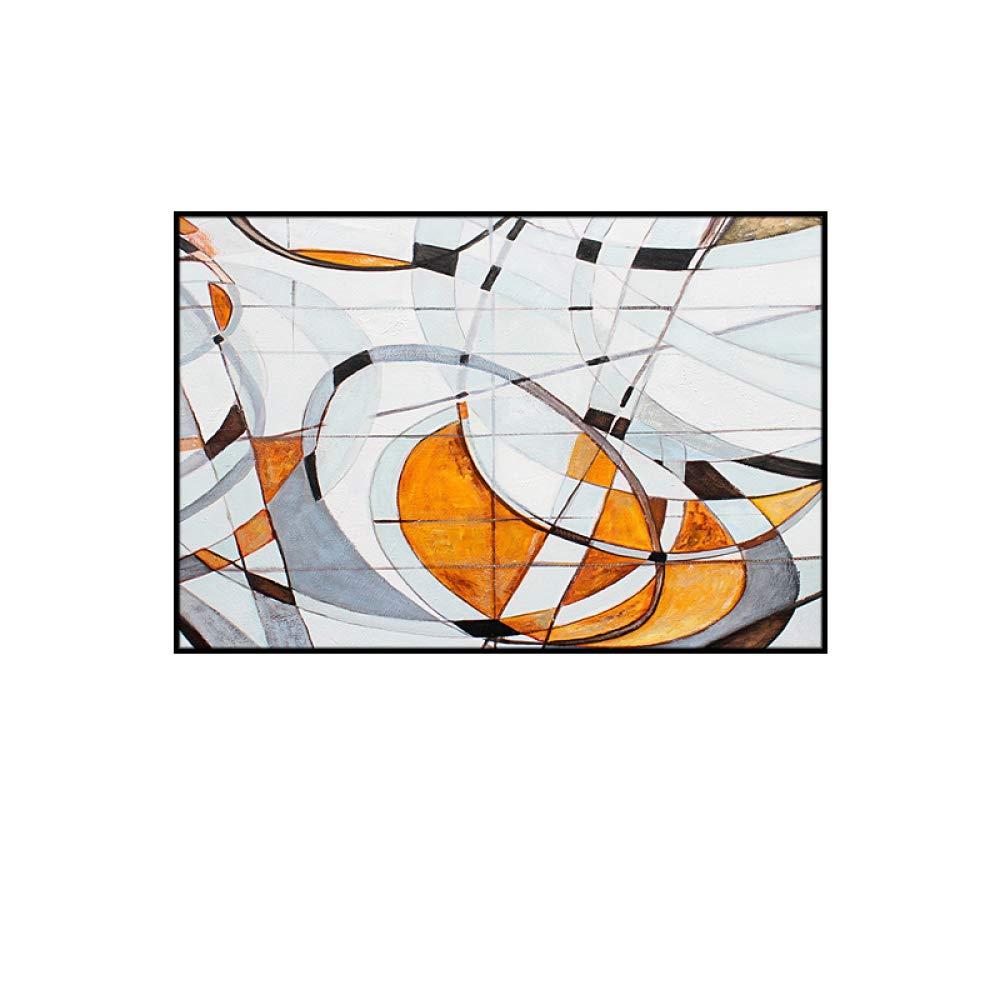 CWJ Pintura Colgante Azul Minimalista Moderno, Tinta Abstracta Sala de Estar Decorativa Mural, habitación de Hotel habitación Modelo Dormitorio Pintura de cabecera,E,60  80