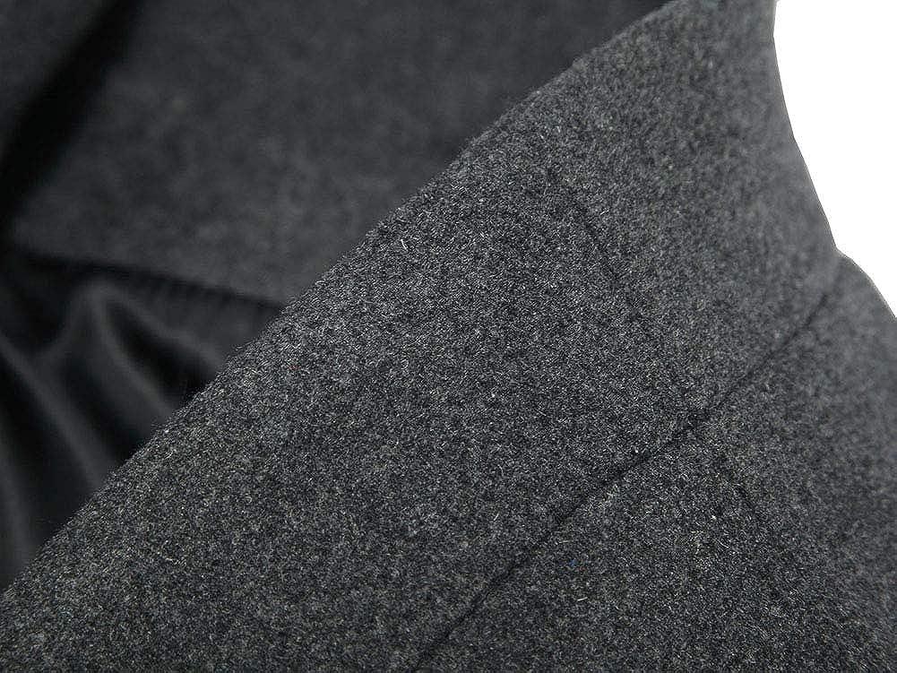 Liveinu Mens Winter Wool Overcoat Slim Fit Trench Coat Business Long Pea Coat Jacket