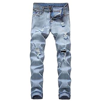 Moda Pantalones de Mezclilla, Hombres Pantalones Vaqueros Casual Persona Que Practica Jogging Baile Sportwear Baggy Pantalones Slacks Pantalones Deportivos: ...