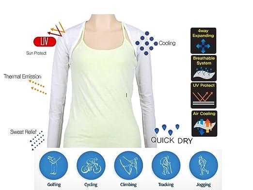 0a0b6d681 Amazon.com  UV Protection Cooling Shawl Arm Sleeve Sports Bolero ...