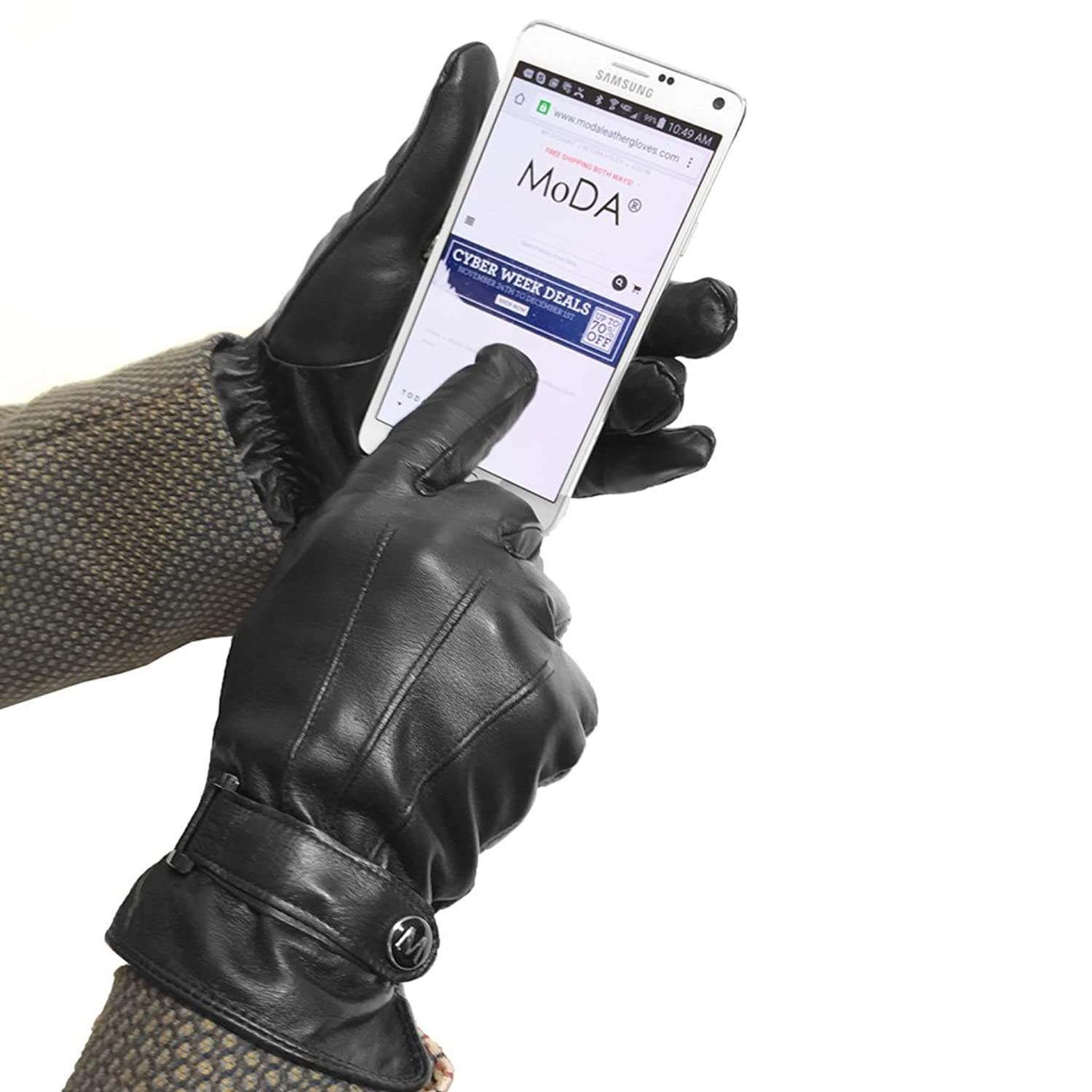 Vw leather driving gloves - Moda Mr Chicago Best Winter Cold Weather Men S Genuine Leather Gloves With Touch Function At Amazon Men S Clothing Store