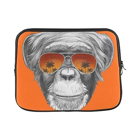 WDDHOME Diseño Personalizado Dibujado a Mano Retrato Mono ...