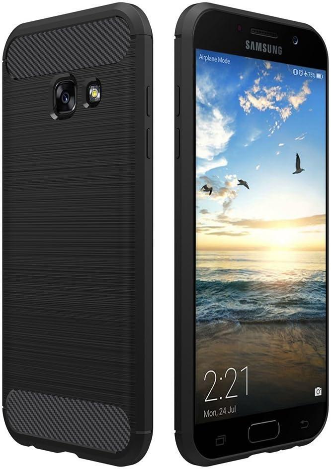 Simpeak Coque Compatible pour Samsung Galaxy A3 2017, Etui de Protection Compatible pour Samsung Galaxy A3 2017 - Noir