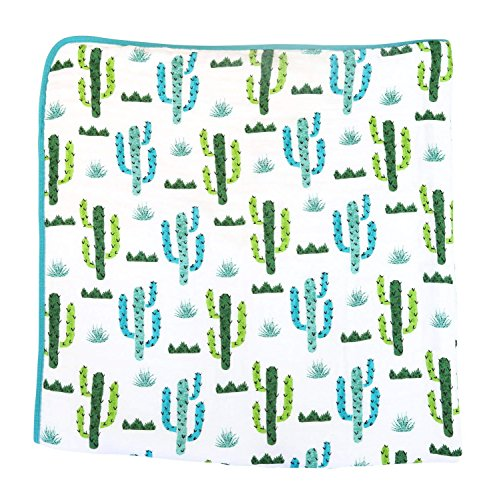 100% Organic Muslin Everything Blanket by ADDISON BELLE - Oversized 47 inches x 47 inches - Best Baby/Toddler Gift - Premium 4 Layer Muslin Blanket/Dream Blanket (Cactus Print)