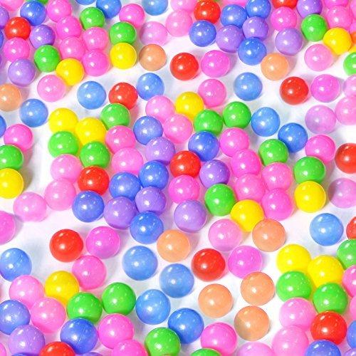 toyofmine 100/200/300/400/500/700/800/1000pcs Colorful Ball Ocean Balls Soft Plastic Ocean Ball Baby Kid Swim Pit Toy Ship from USA … (200 pcs Ocean Balls)