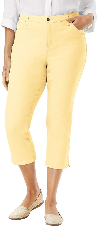 Woman Within Women's Plus Size The Perfect Capri Jean