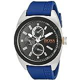BOSS Orange - 1513245 - Montre Homme - Quartz - Analogique - Bracelet Silicone Bleu