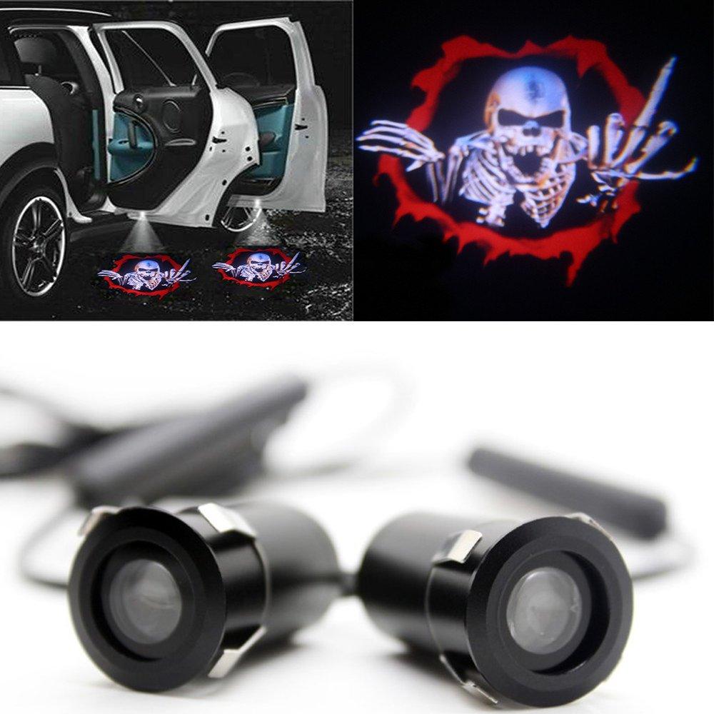 sombra del logo 1/par de LED para iluminar el coche proyector bienvenida bajo de la puerta sensor de puerta.