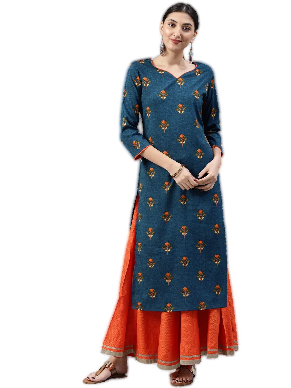 Vaamsi Women's A-Line Kurta (VPK1532_L_Blue_large) (B07GJLR7HP) Amazon Price History, Amazon Price Tracker