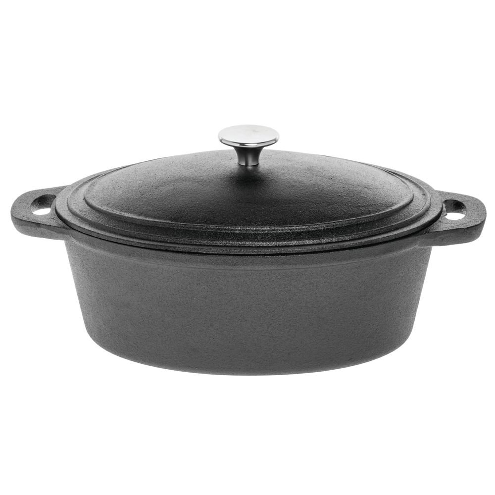 American Metalcraft CIPR4 Cast Iron, Round Casserole, Large 4 Qt. by American Metalcraft (Image #1)