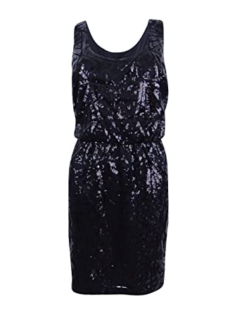 cc2a17c8 Jessica Simpson Womens Mesh Sequined Clubwear Dress Black 8 at Amazon  Women's Clothing store: