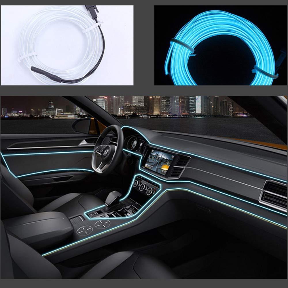 Hilo de neones para el interior del coche blanco
