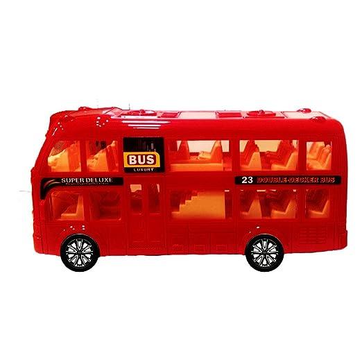 ToyZe ® Juguete Autobús de Dos Plantas, Acción Golpear e Ir, con Luces y Sonidos.: Amazon.es: Juguetes y juegos