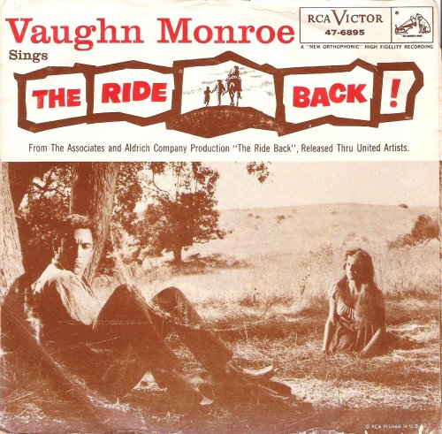 The Ride Back 45 Record Movie Theme w/ Picture Sleeve Anthony - West Mall Monroe