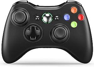 VOYEE Xbox 360 Controller Wireless Gamepad with Upgraded Joystick for Microsoft Xbox 360 & Slim (Black)