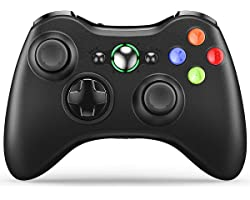 VOYEE Wireless Controller Compatible with Microsoft Xbox 360/Slim PC Windows 10/8/7, Wireless PC Controller with Upgraded Joy