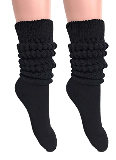 925479060 Slouch Socks Women and Men Extra Tall Heavy Cotton Socks Made in USA Size 9  to