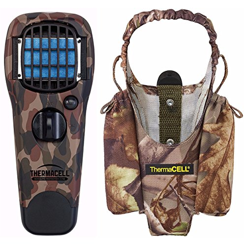 (Thermacell Hunting/Fishing Woodlands Mosquito Repeller & Camo Appliance Hoster for Camping, Fishing, Hunting)