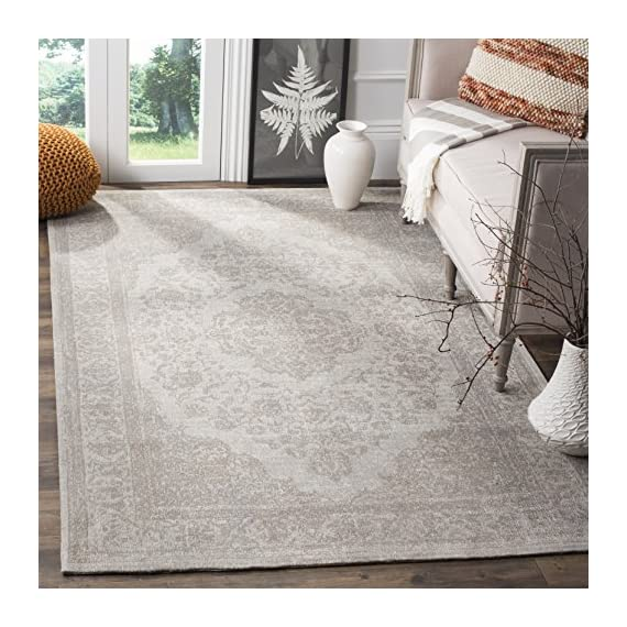 Safavieh Classic Vintage Collection CLV121A Beige Cotton Area Rug (9' x 12') - Stunning cotton fibers make this rug soft and luxurious to the touch The power loomed construction adds durability to this rug, ensuring it will be a favorite for many years This traditional, vintage rug will give your room an elegant accent - living-room-soft-furnishings, living-room, area-rugs - 618w27lH1cL. SS570  -