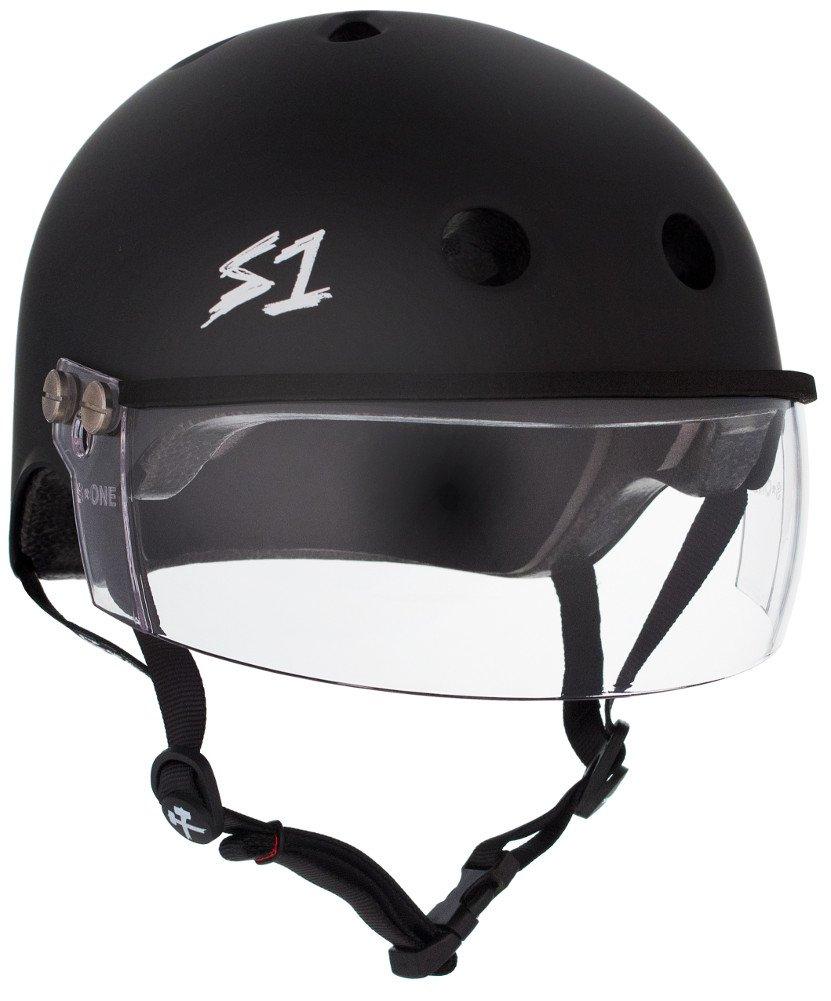 S-ONE Lifer Visor CPSC - Multi-Impact Helmet -Black Matte - Large (22'')