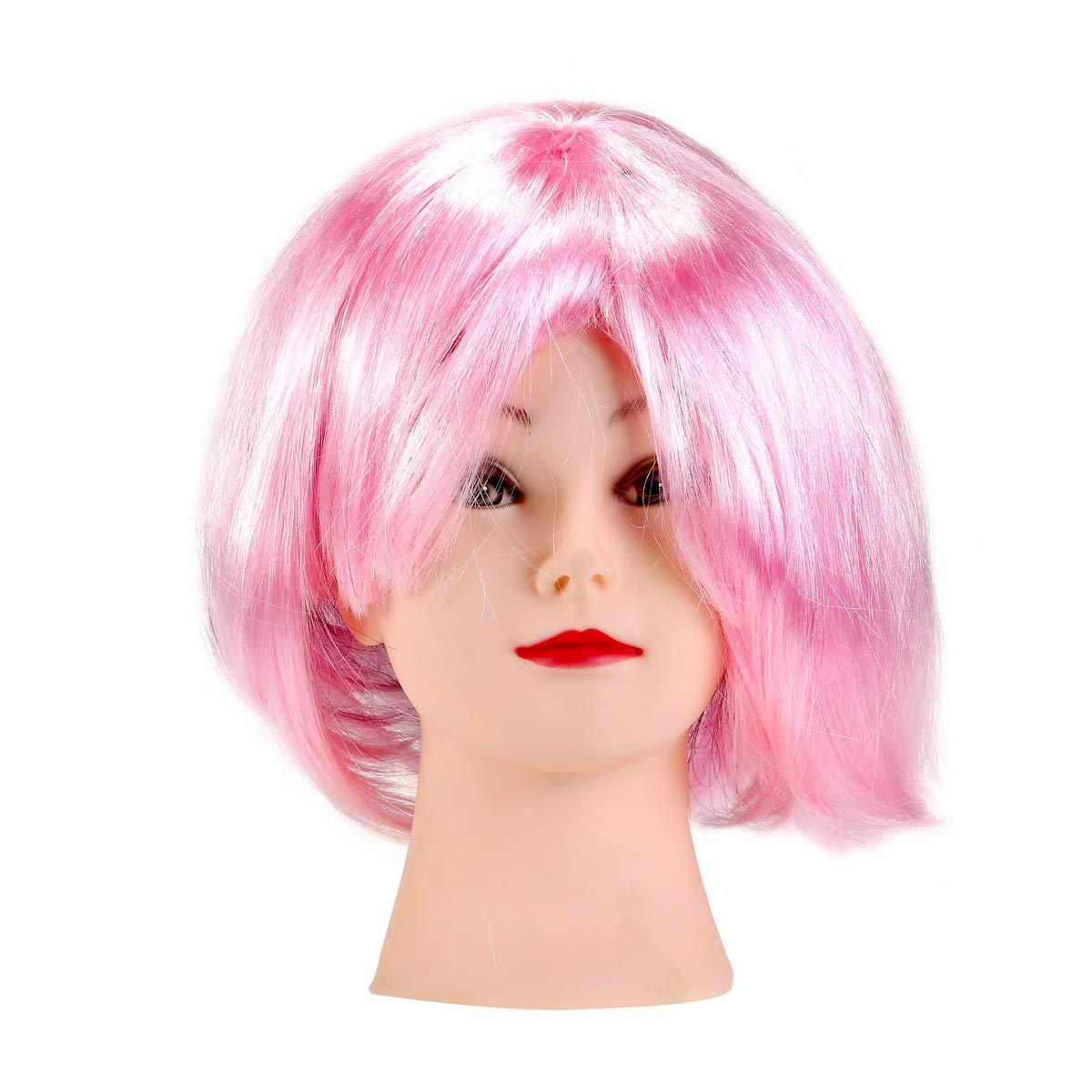 BinaryABC Halloween Bob Wigs,Cosplay Wigs for Halloween Costume Dress up Party Decorations Supplies